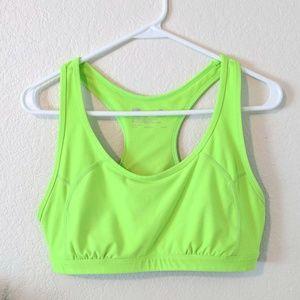 Xersion Neon Green Sports Bra XL